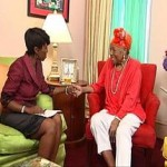 Cheryl in exclusive interview with Dr. Maya Angelou at her Harlem home