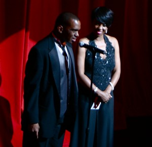 Cheryl and Clarence Wills host event at the Apollo theater