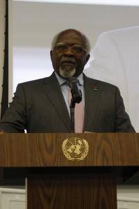 Dr. Julius Garvey (son of Marcus Garvey) addressed the audience