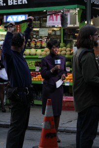 They are filming on location in  Alphabet City